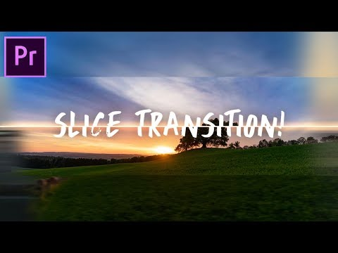 Smooth Sliding SLICE TRANSITION Effect! Adobe Premiere Pro CC Tutorial  How to
