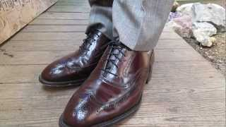 Johnston and Murphy Wingtips with a shine