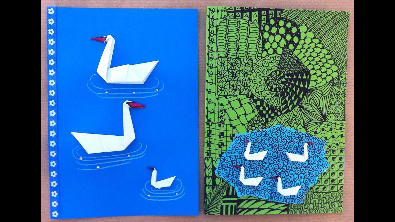 origami schwan karte basteln selbermachen diy basteln mit kinder youtube. Black Bedroom Furniture Sets. Home Design Ideas