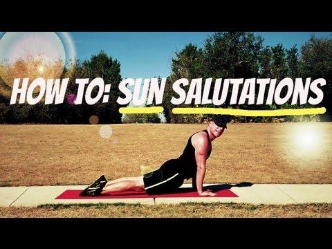 how to do sun salutations  beginner yoga weight loss