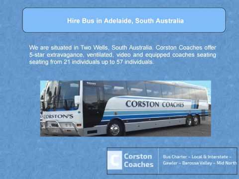 Hire 5-Star Luxury, Air Conditioned Bus in Adelaide