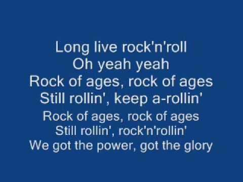 Rock Of Ages By Def Leppard With Lyrics