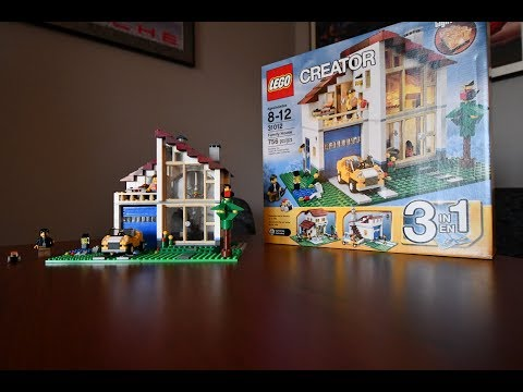 A childs build and review of Lego creator set 31012, Family House.