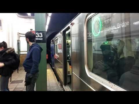 Friday Evening IRT Lexington Avenue Rush Hour Trains at 33rd Street (2.17.17)