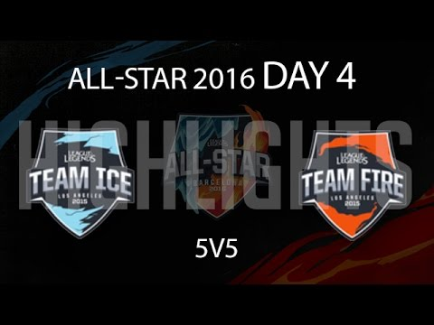 5v5 Mixed Match 1 Highlights LoL All Star    - Team Ice All-Stars vs Team fire All-Stars New Flash Game
