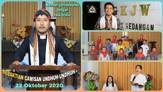 Kebaktian Cawisan Undhuh-undhuh GKJW Jemaat Gedangan II 22 Oktober 2020
