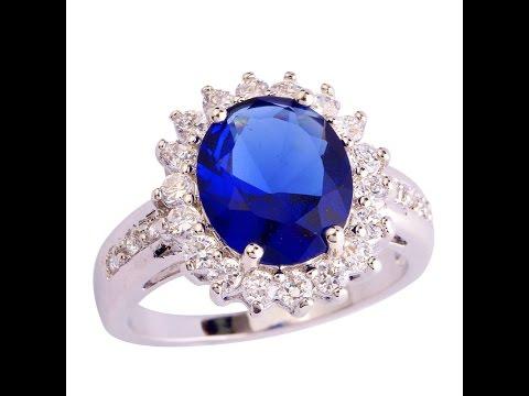 Кольца с сапфиром - фото 2017 / Sapphire ring