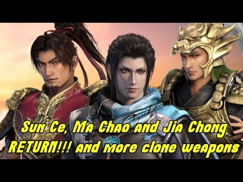 Dynasty Warriors 9 News!!-Sun Ce, Ma Chao and Jia Chong RETURNS!!..and more clone weapons