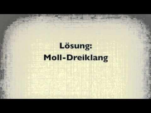 Dur- und  Moll-Dreiklänge hören