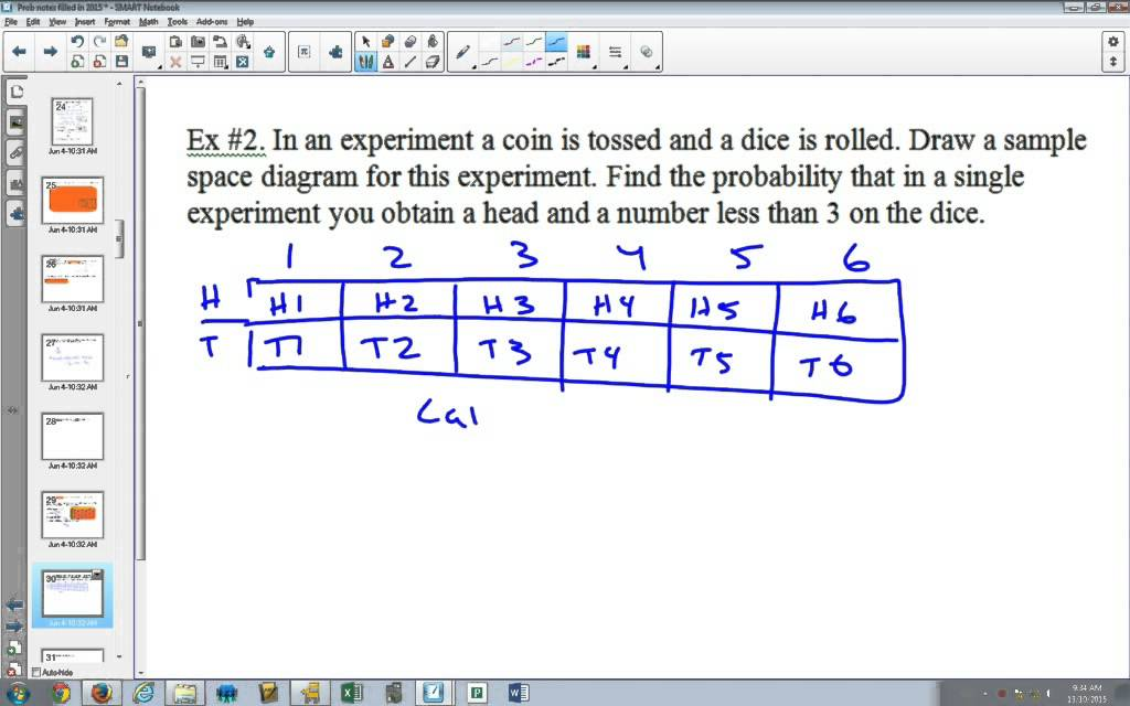 Probability Sample Space Diagrams Youtube
