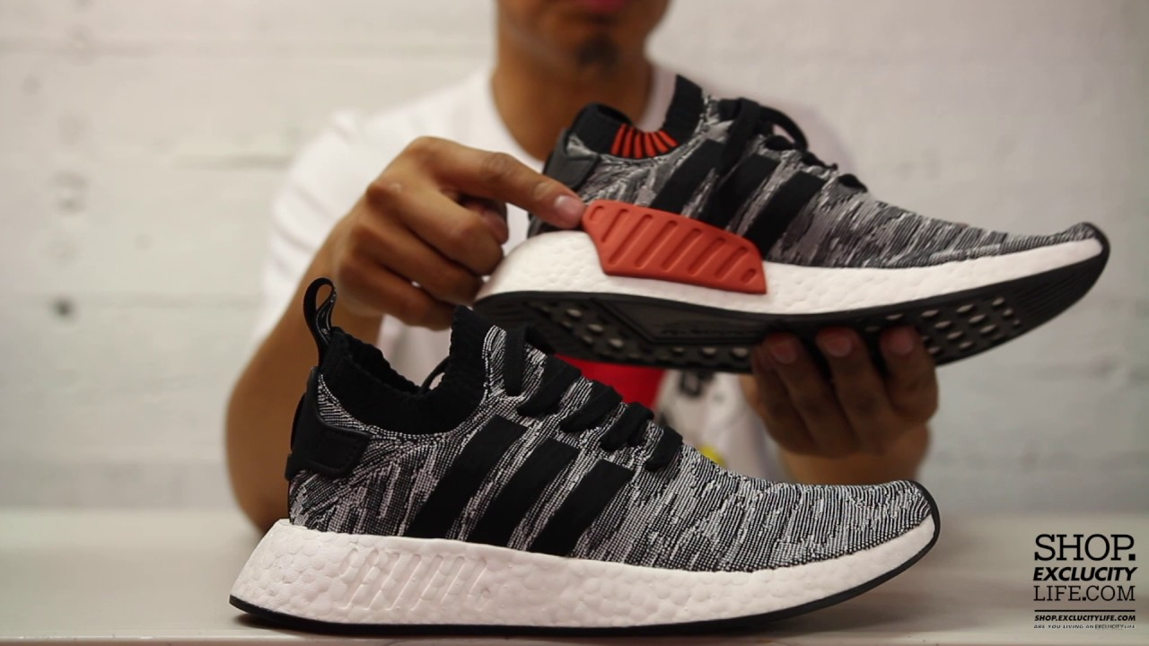 ADIDAS NMD R2 PK BLACK BLACK RED MENS VIEW ALL : AREA