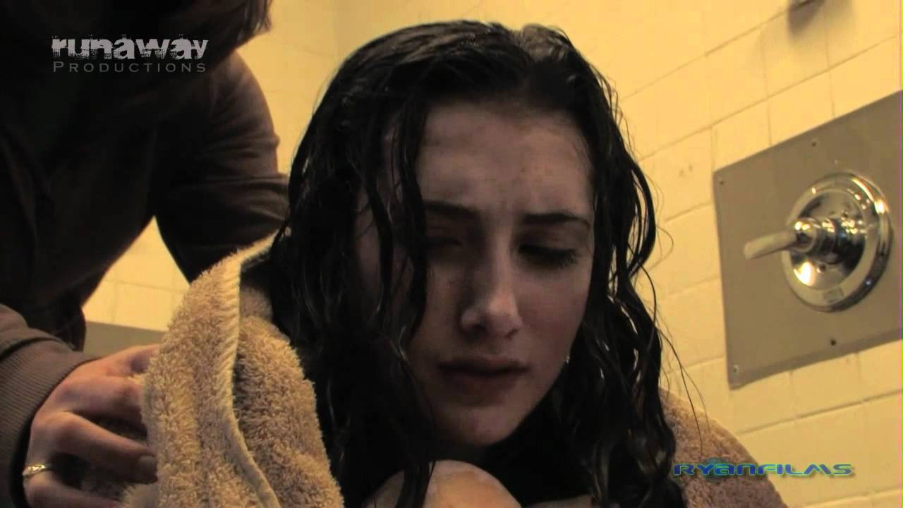 close up female urinating