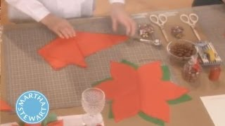 Martha Stewart's Poinsettia Place-card Craft | Martha Stewart
