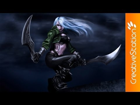 Katarina League Of Legend - Speed Painting (#Photoshop) | CreativeStation