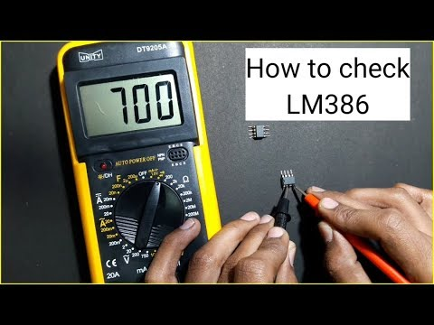 How to check LM386 ic with digital multimeter | LM386 testing