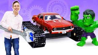 Машинка вездеход для Халка! - Супергерои и машинки игры для мальчиков. Прикольные видео с Фёдором