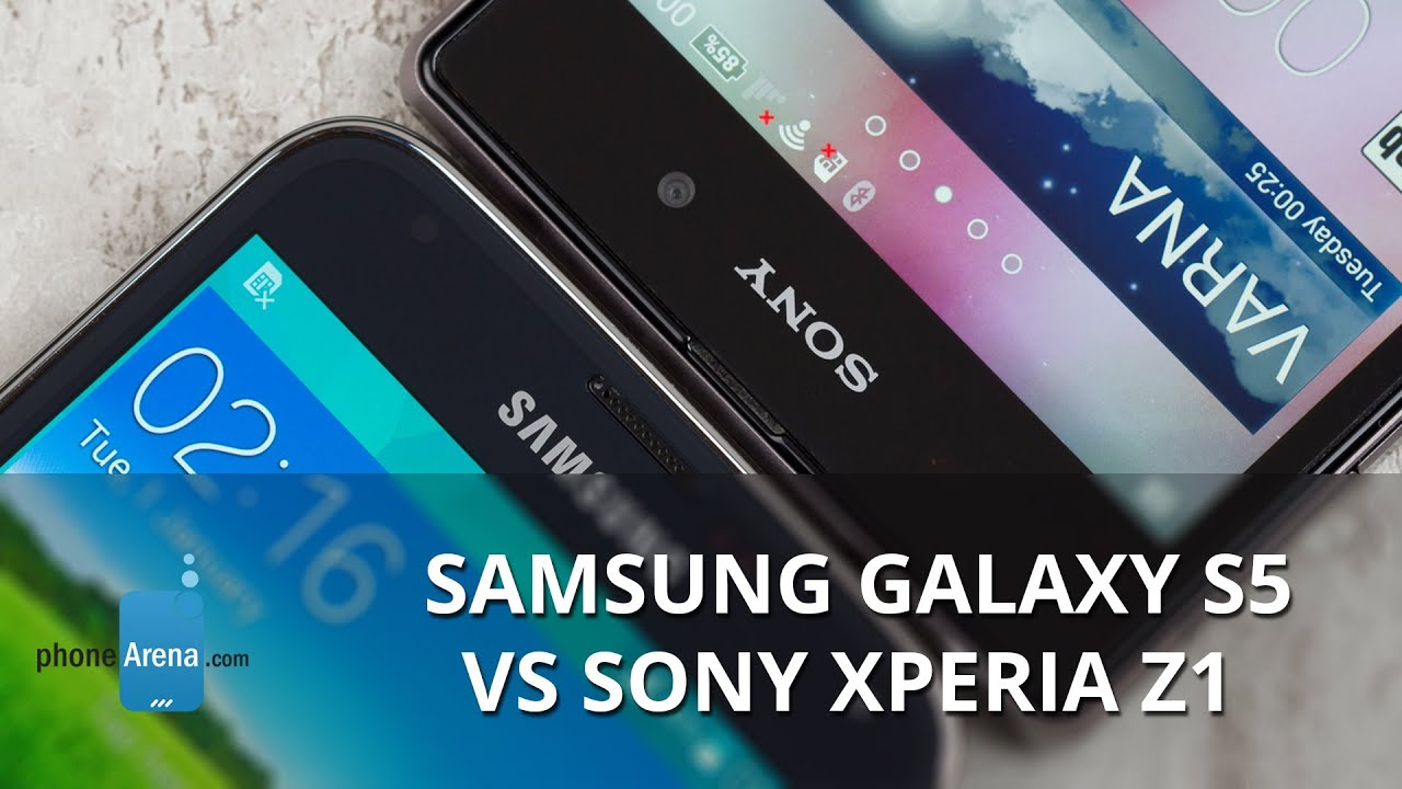Samsung Galaxy S5 vs Sony Xperia Z1 - YouTube