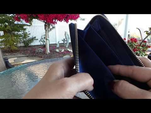 Zipper Saffiano Leather Wallet by Belfen® avail on Amazon