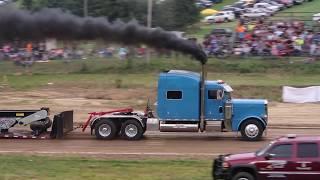 Reedsville WV Truck Pulls V-8 Mack Superliner Street Legal Semi Dump Hot 8-11-17