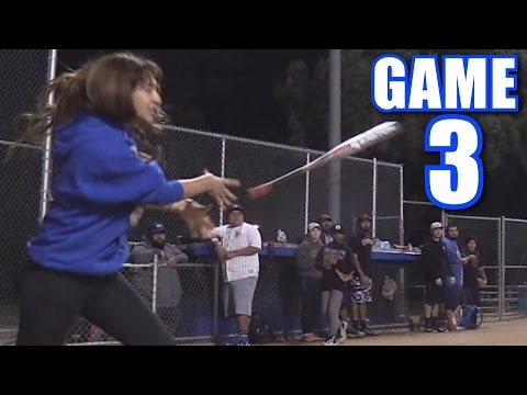 JASMINE CAN'T STOP THROWING HER BAT AT KIDS! | On-Season Softball League | Game 3