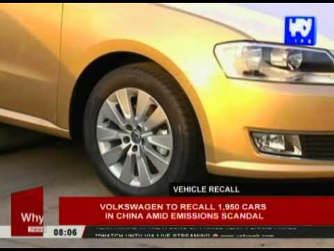 Volkswagen to recall 1,950 cars in China amid emissions scandal