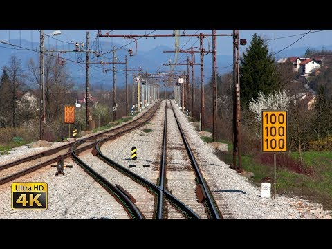 4K CABVIEW Koper - Ljubljana -- Adriatic Sea to inland Slovenia -- freight train travel
