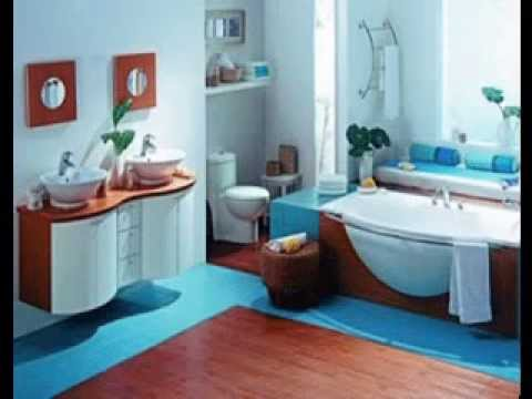 Blue and brown bathroom decor ideas youtube for Blue brown bathroom decor