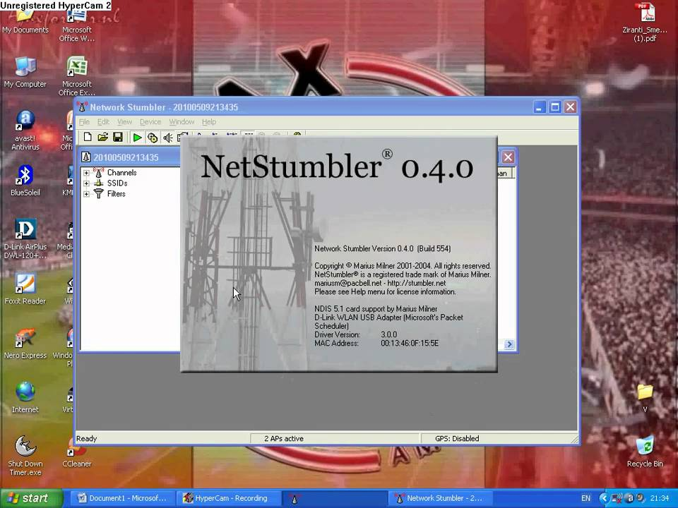 netstumbler windows 7