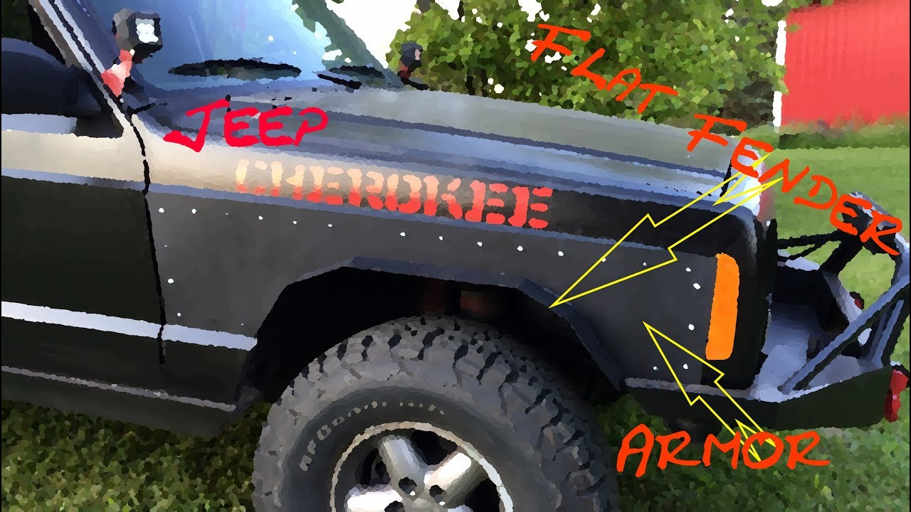 Jeep Armor & Flat Fenders ---- Jeep Cherokee --- - YouTube