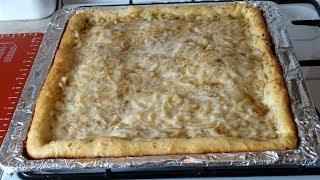 Открытый Пирог с Рыбой из Дрожжевого Теста. Рыбный пирог рецепт/Open pie with fish.