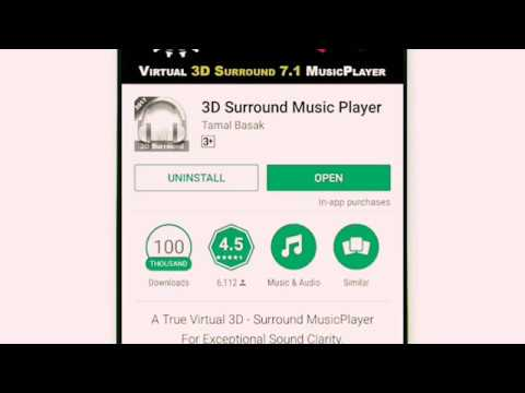 True Virtual 3D  Surround MusicPlayer For Exceptional Sound Clarity Amazing 3d music application