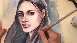 Как нарисовать акварельный портрет