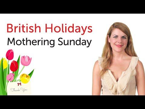 British English Holidays -  Mothering Sunday