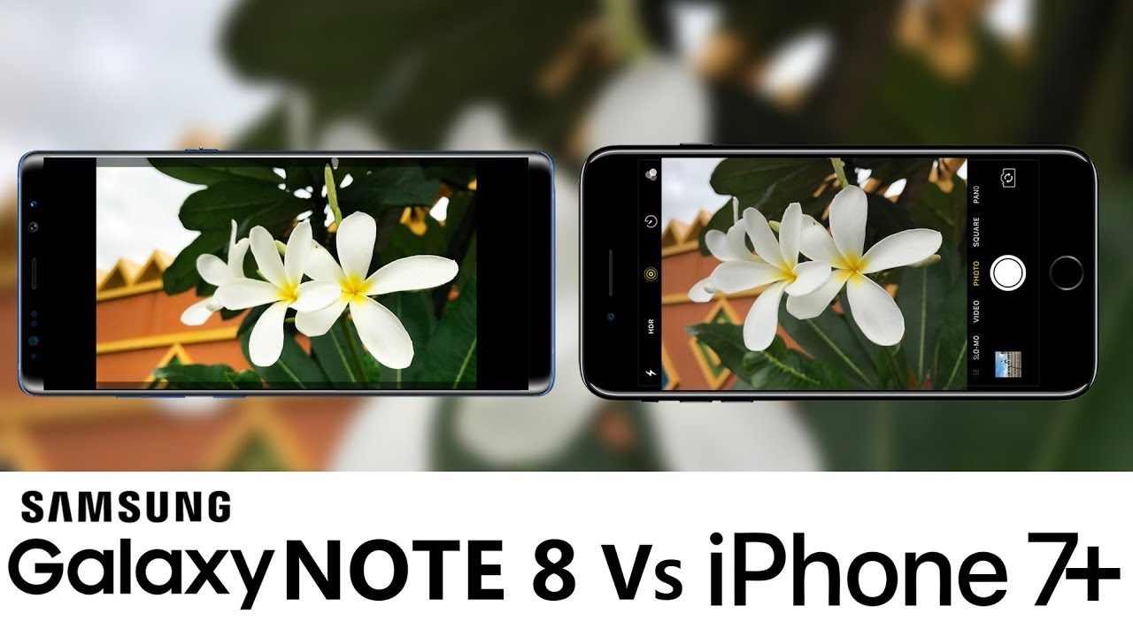 note 8 vs iphone x camera