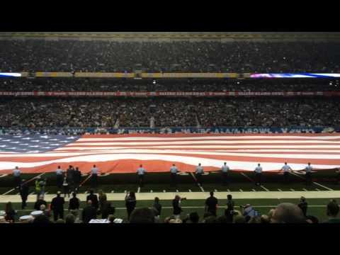 Gigantic American Flag Unfurled at Valero Alamo Bowl 2016