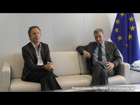 Günther Oettinger - Interview by Alexander Louvet - Positive Energy in Europe - Powershoots TV