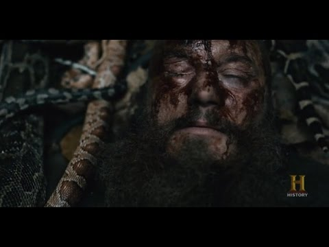 Ælla execution of ragnar lodbrok death scene vikings episode 15