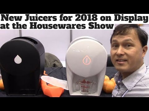 New Juicers for 2018 on Display at the Housewares Trade Show