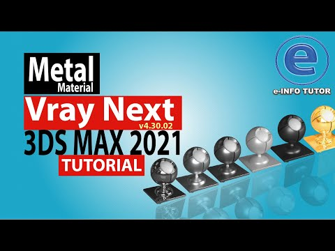 Vray Next  Realistic  Metal  Material Chrome Polish, Aluminium, Iron in 3ds Max-2020