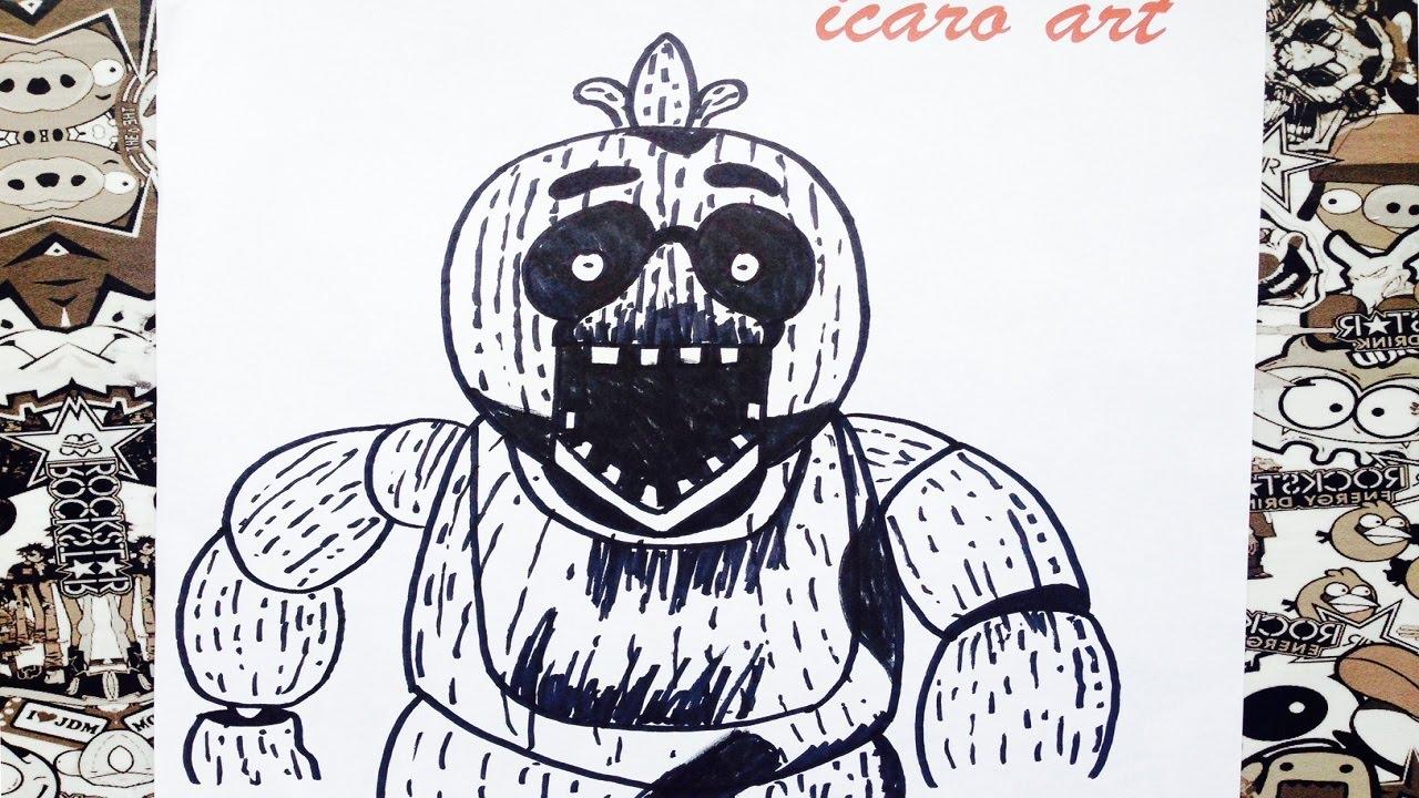 Como Dibujar A Phantom Chica De Five Nights At Freddys