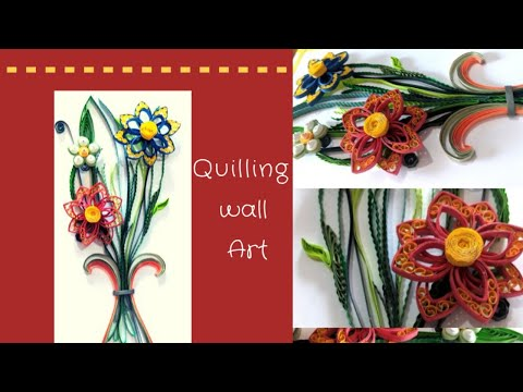 New Quilling wall decoration ideas/ quilling paper flowers/ DIY quilling paper flowers
