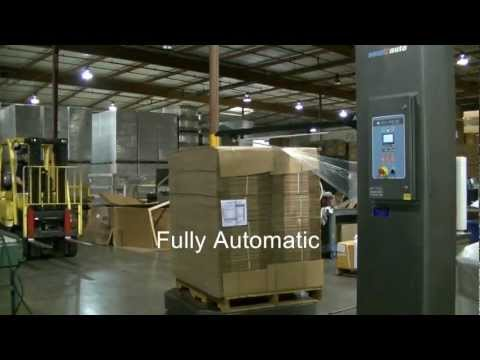Cousins Packaging A-Arm fully automatic stretch wrapper