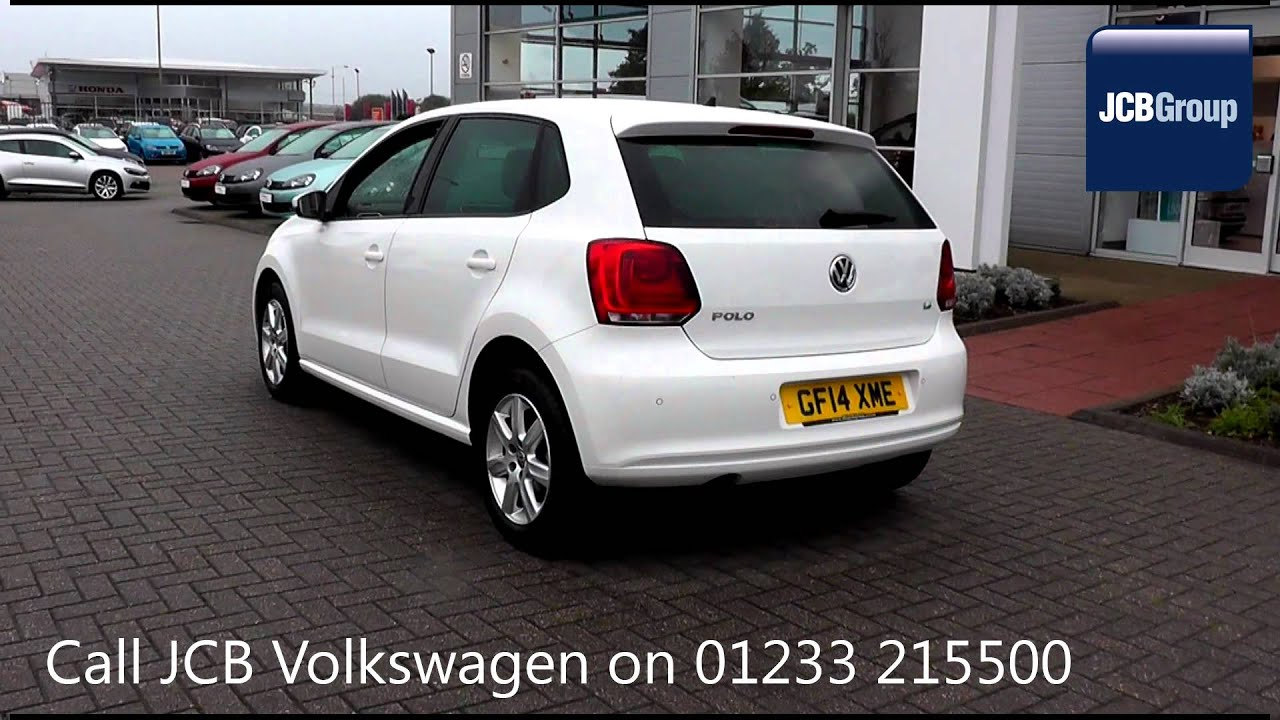 2014 Volkswagen Polo Hatch Match Edition 1 4l Candy White