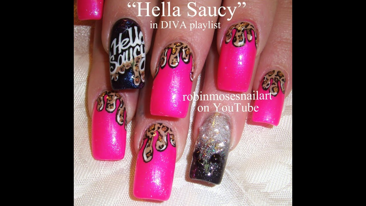 Dripping Leopard Print Nail Art Design Tutorial Hella Saucy Diva