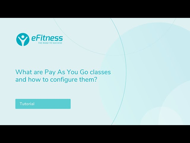 What are Pay As You Go classes and how to configure them