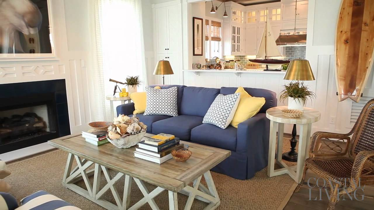 Ultimate beach house living room youtube for Family room v living room