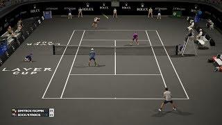 AO International Tennis - Grigor Dimitrov/David Goffin vs Jack Sock/Nick Kyrgios - PS4 Gameplay