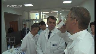 радий Хабиров попробовал детский йогурт в Стерлитамаке