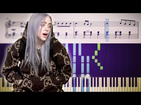 Billie Eilish - when the party&39;s over - Piano Tutorial + SHEETS