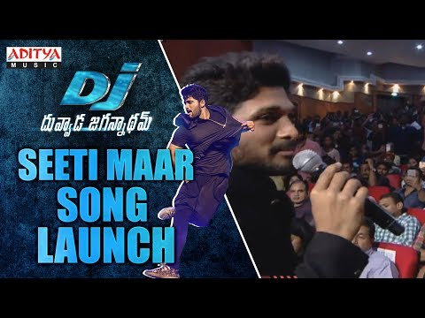 Seeti Maar song Launch @DJ Audio Launch Live Event